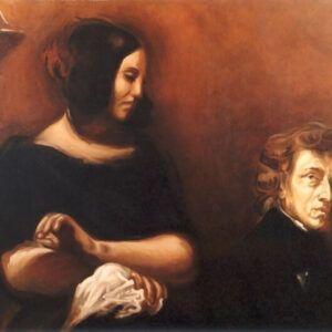 Eugene Delacroix - Portret Fryderyka Chopina i George Sand