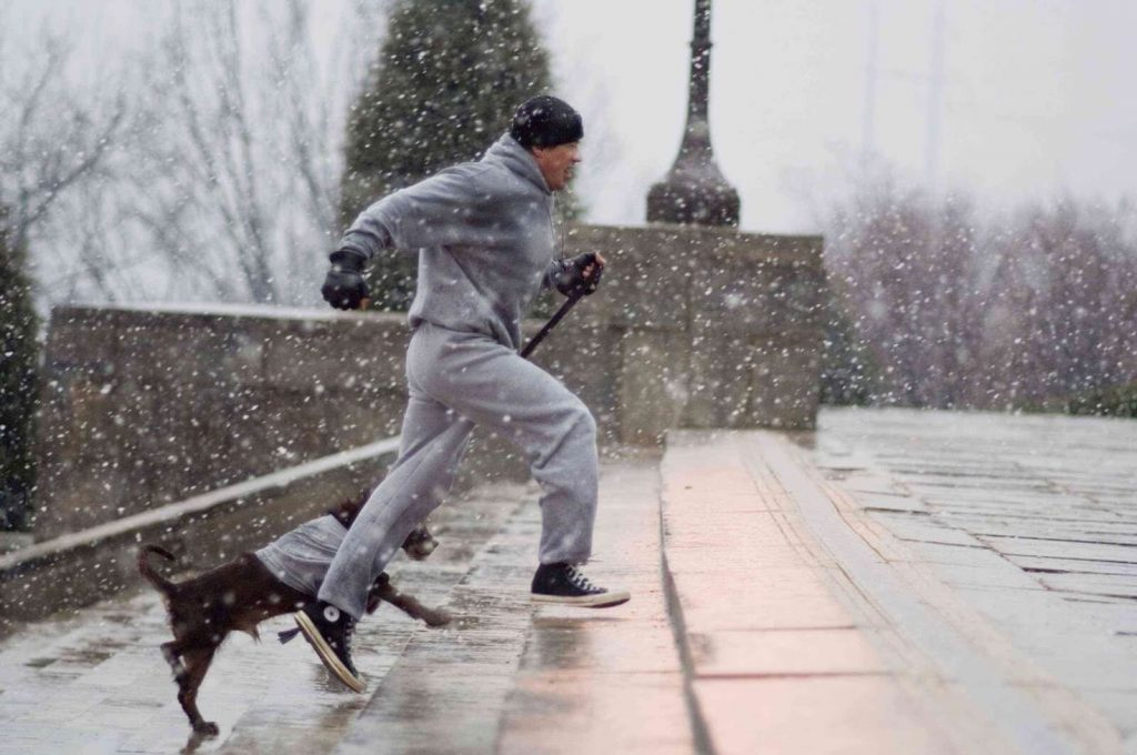 "filmy bokserskie - kadr z filmu ""Rocky"""